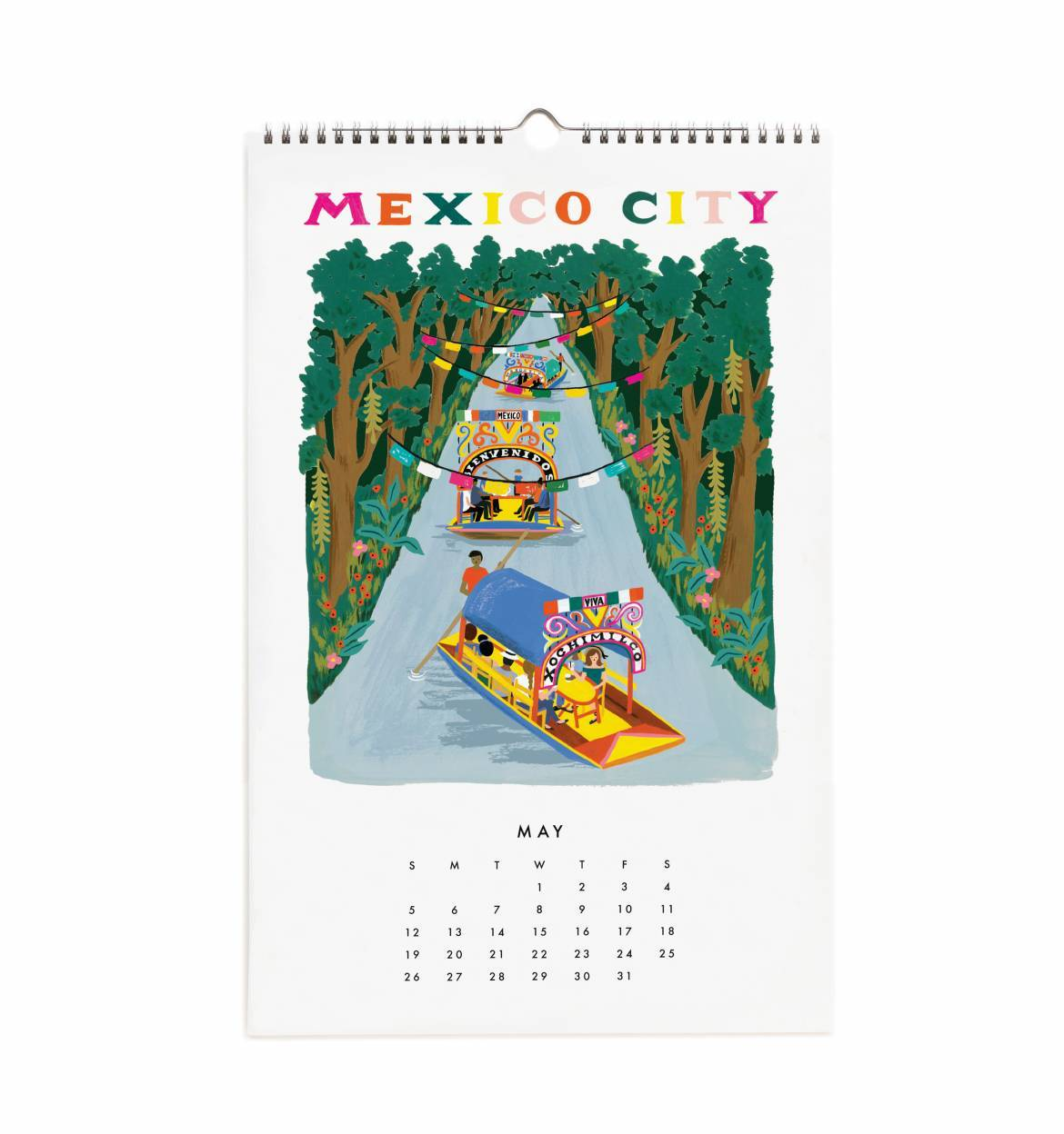 a60a6f1b101c Rifle Paper World Traveler Wall Calendar 2019 Planners